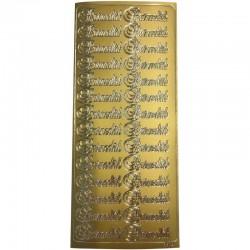 Stickers tekst Barnedåb guld