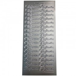 Konfirmations stickers sølv til indbydelser