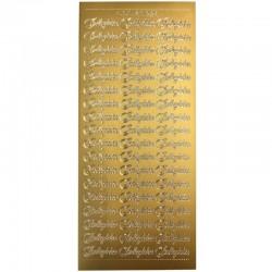 Stickers Indbydelse lille guld