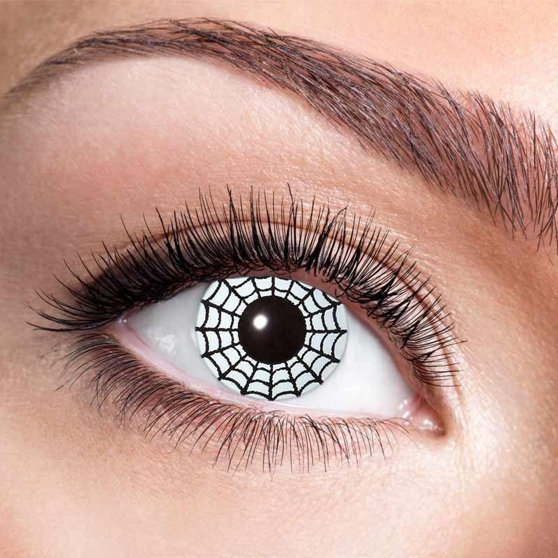 Hvide spindelvæv kontaktlinser 12 mdr