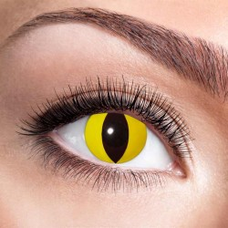 Gule katteøjne kontaktlinser 12 mdr