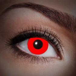 Røde UV kontaktlinser 12 mdr