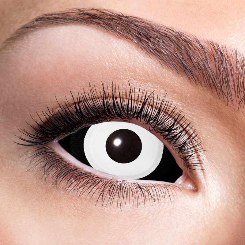 22 mm kontaktlinser sort - hvid 6 mdr