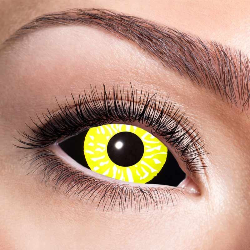 Sort & gul 22 mm kontaktlinser 6 mdr