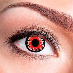 Bella sorte & røde kontaktlinser 12 mdr