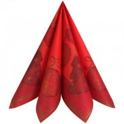 Airlaid røde juleservietter Tiffany. 12 stk. 40x40 cm