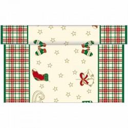 Merry Christmas julebordløber 40 cm x 4,80 m