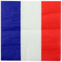 Franske flag servietter. 20 stk