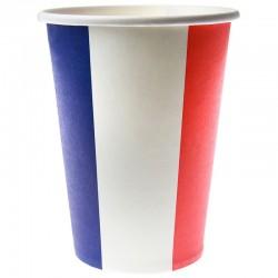 Papkrus Fransk flag. Fransk temafest 10 stk