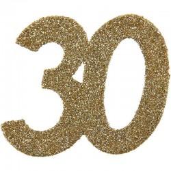 Store konfetti guld glimmer tal. 30. År