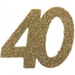 Store konfetti guld glimmer tal. 40