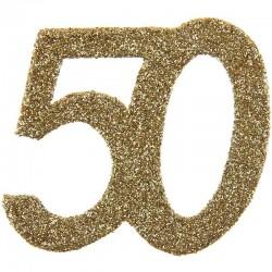 Store konfetti guld glimmer tal. 50