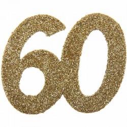 Store konfetti guld glimmer tal. 60