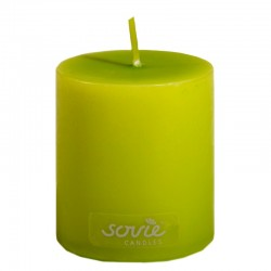 Limegrøn bloklys 5 x 6 cm. 1 Stk.