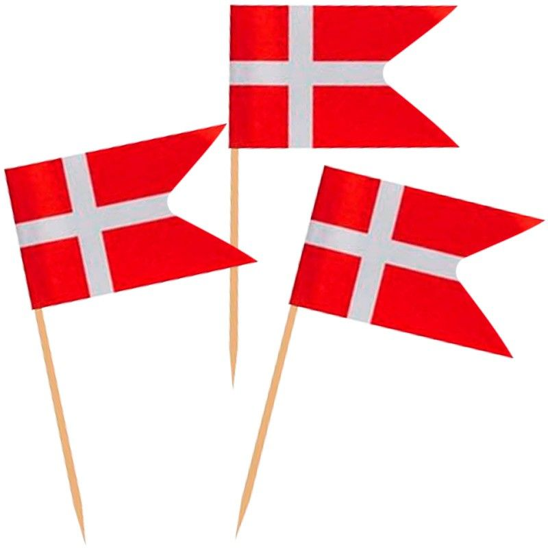Kageflag 3 x 4 cm. 144 Stk