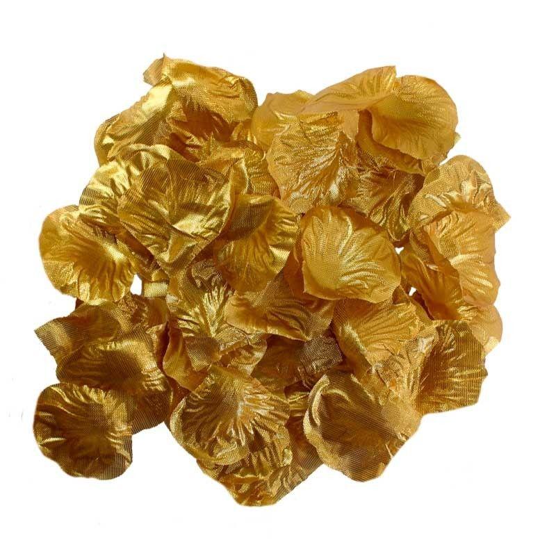 Guld rosenblade 100 Stk