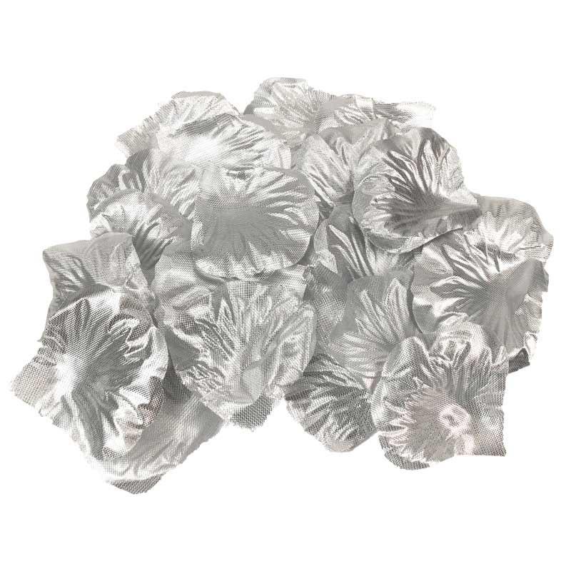 Sølv rosenblade 100 Stk