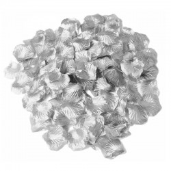 Sølv rosenblade 500 Stk.