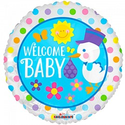 Welcome Baby Folie Ballon 46 cm