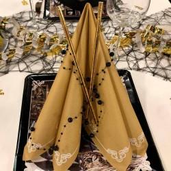 Servietter Dinner for One, Guld  til nytårs festen