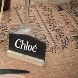 Sort tavle bordkort lille til rustik bryllup