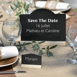 Sort tavle bordkort til bryllups borddækning