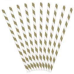 Guld stribet papirsugerør