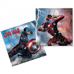 Captain America Civil War. servietter. 20 stk
