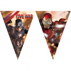 Captain America Civil War. flagbanner 2,3 m