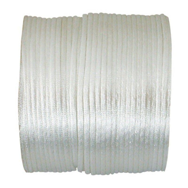Hvid satinsnor 2 mm. x 25 Meter