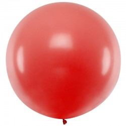 Stor Rød ballon. 90 Cm.