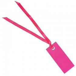 Pink bordkort med satinbånd 12 stk.