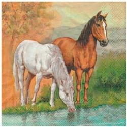 Frokostserviet med heste 20 stk.