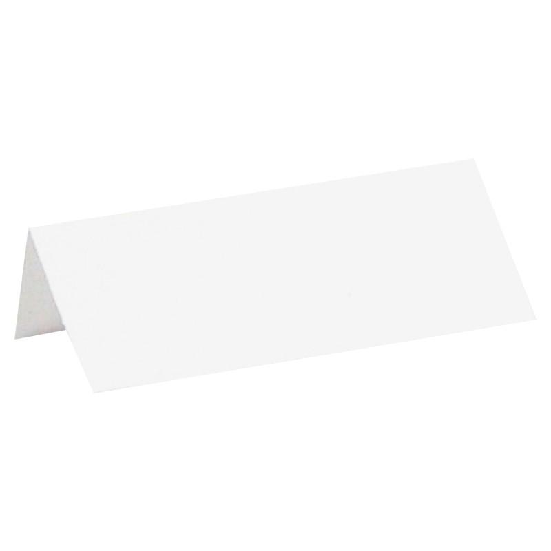 Glaskort hvid. 10 Stk.