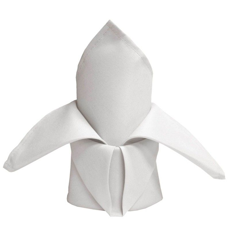 Hvid stofserviet 50 x 50 cm - 5 Stk