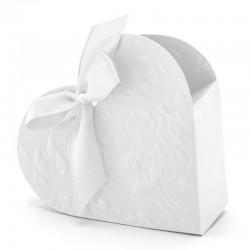 Hjerte Favor æske hvid. 10 stk.