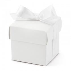 Hvide gaveæsker med låg 10 stk