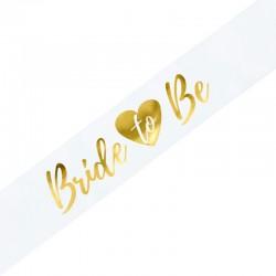 Ordensbånd Bride to be Hvidt