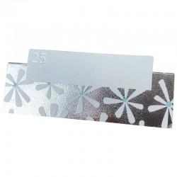 Bordkort sølvbryllup. 10 stk.