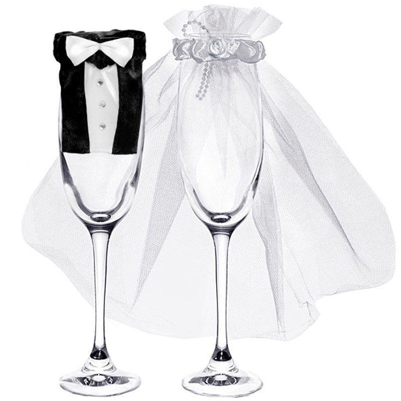 Pynt til champagneglas 2 dele
