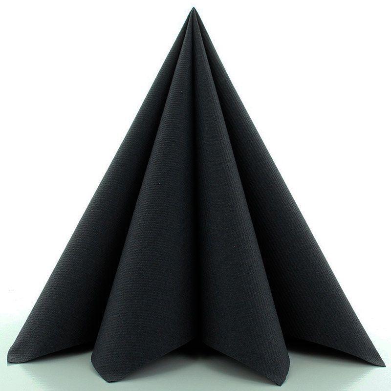 Airlaid Tekstilservietter Sort 40x40 cm
