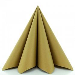 Airlaid Tekstilservietter Guld 40x40 Cm