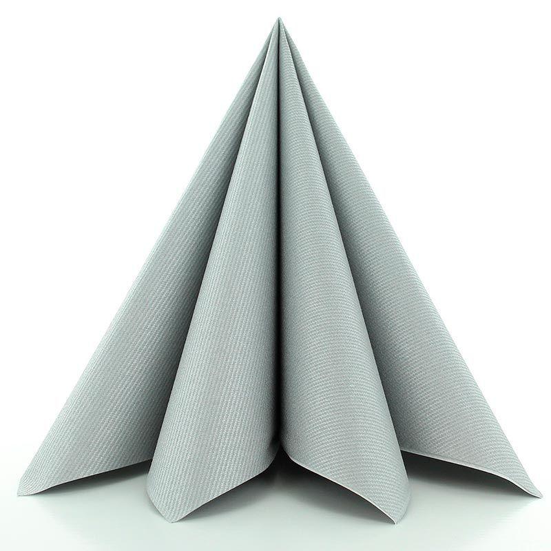 Airlaid-Tekstilservietter Sølv 40x40 cm