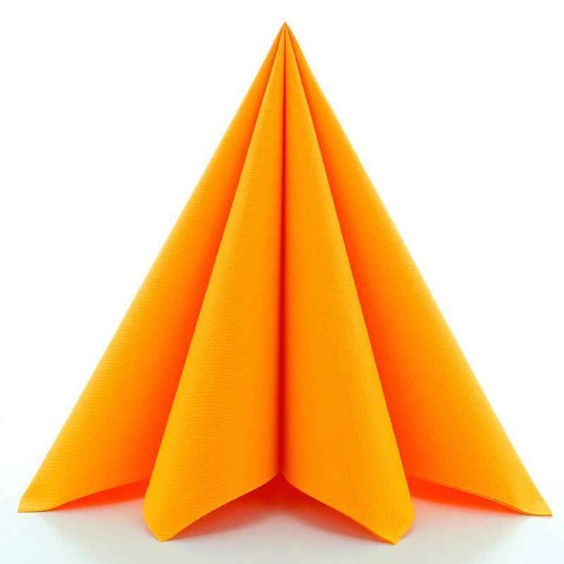 Airlaid tekstilservietter karry orange 40x40 cm