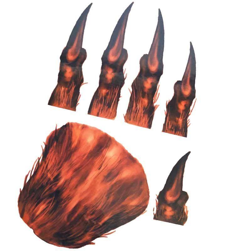 Tatovering varulve klør 1 hånd I Køb flotte Halloween