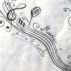 Servietter musik & noder