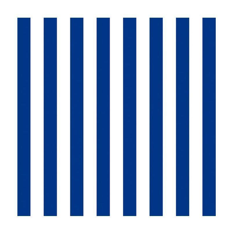 Servietter marineblå striber. 33 x 33 cm