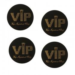 Sort-Guld VIP konfetti 50 stk