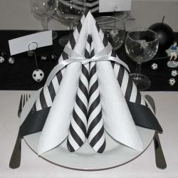 borddækning sort hvid