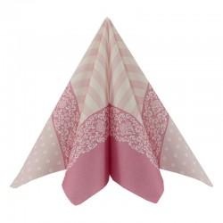 Airlaid-Tekstilserviet lyserød Bine